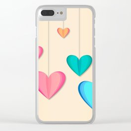 Hangin Hearts Clear iPhone Case