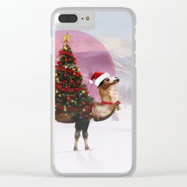 Santa Camel Clear iPhone Case