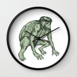Kappa Monster Crouching Tattoo Wall Clock