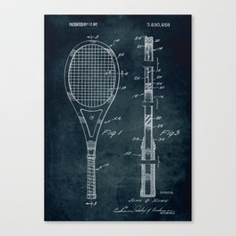 1972 - Tennis patent art Canvas Print