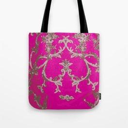 Lush Pink Textile  Tote Bag