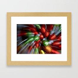 Abstract Red & Green Motion Blur Framed Art Print