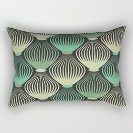 Ornamental cages green pattern Rectangular Pillow