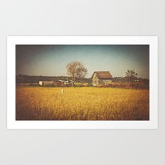 A Place to Rest after Harvest Art Print