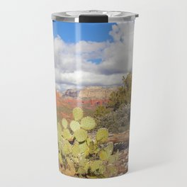 Looking Out Westward in Sedona Photograph by Reay of Light Travel Mug