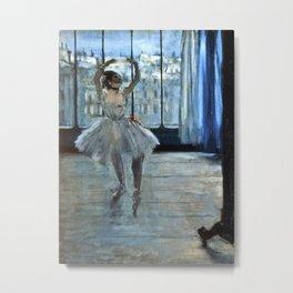 Edgar Degas - Dancer In Front Of A Window Metal Print