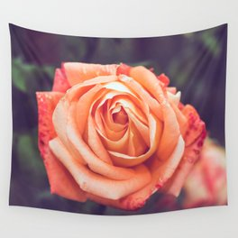 Orange Rose Wall Tapestry