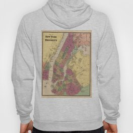 Vintage Map of NYC and Brooklyn (1868) Hoody
