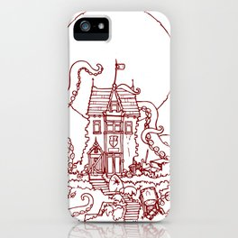 The Midnight Chateau Red Line iPhone Case