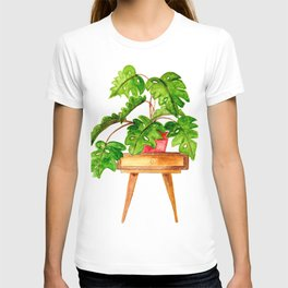 Monstera on a table T-shirt