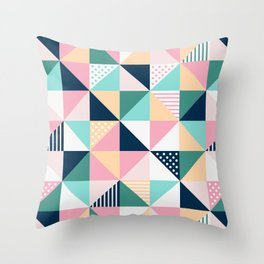 Braided tape Throw Pillow
