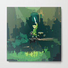 Legend Of Zelda Link Painting Art Metal Print
