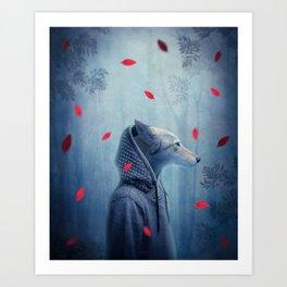 he wolf Art Print