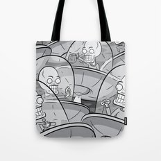 We Come In Peace BW Tote Bag