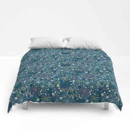 There are fireworks everywhere (blue) Comforters