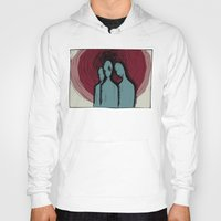 three of the possessed Hoodies featuring Three by The Being art