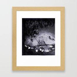 Cave Drawing III Framed Art Print