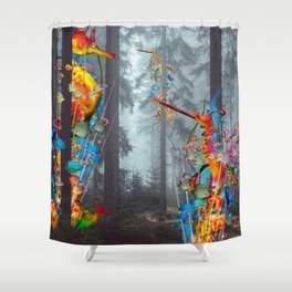 Forest of Sea Creatues Shower Curtain