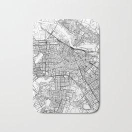 Amsterdam White Map Bath Mat