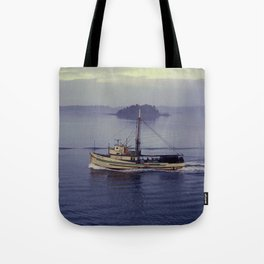 fishing boat, alaska Tote Bag