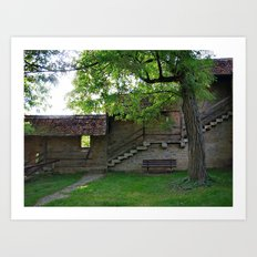 Rothenburg ob der Tauber - behind the fortification wall Art Print