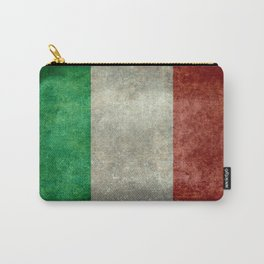 Italian flag, vintage retro style Carry-All Pouch