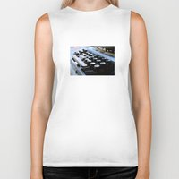 typewriter Biker Tanks featuring Typewriter by double U double O
