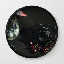 Cosina and Cherry cocktail Wall Clock