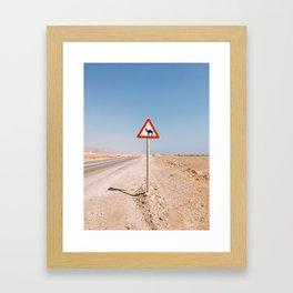 Camel Crossing Framed Art Print