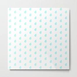 Drop Mint Pattern Metal Print