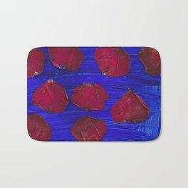 Roses in the Blue Bath Mat
