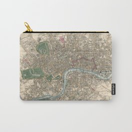 Vintage London Map - 1853 Carry-All Pouch