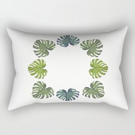 Cheese Plant Palm leaves Rectangular Pillow