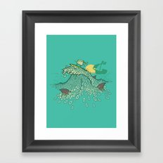 Surfin' Soundwaves Framed Art Print