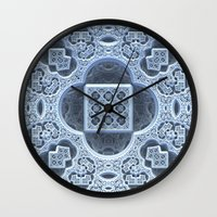 frozen Wall Clocks featuring Frozen by Lyle Hatch
