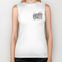 Sugarbush Vermont Serious Fun for Skiers- Zentangle Illustration Biker Tank