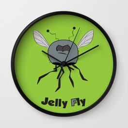 Jelly Fly Wall Clock