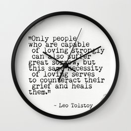 Leo Tolstoy awesome quote 6 Wall Clock