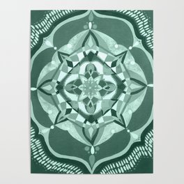 Radial 19 - Mint/Teal Poster