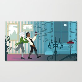 Hurry up, Stephen! Canvas Print