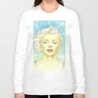 comic book Long Sleeve T-shirts featuring Marilyn Monroe comic book cover by Storm Media