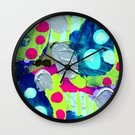 Glitter and Silver Wall Clock