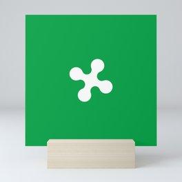 flag of lombardy Mini Art Print