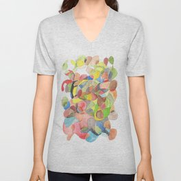 Life and Meaning 3| Abstract Watercolors Unisex V-Neck