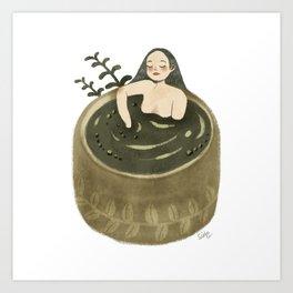Matcha Spa Art Print
