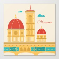 florence Canvas Prints featuring Florence by Marina Design