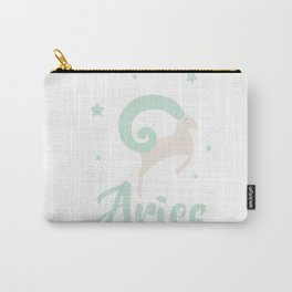 Aries March 21 - April 19 - Fire sign - Zodiac symbols Carry-All Pouch