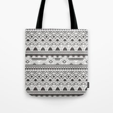 CRYSTAL AZTEC B/W  Tote Bag