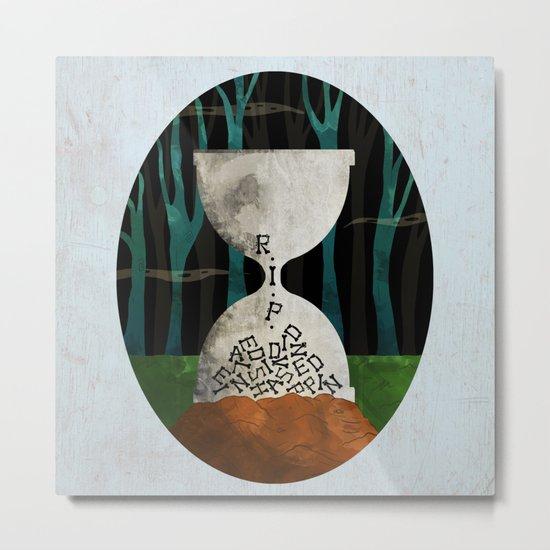 hourglass tombstone Metal Print