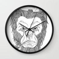 bigfoot Wall Clocks featuring Bigfoot  by Observer